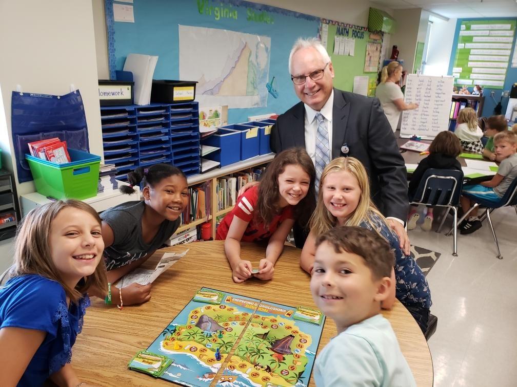 Superintendent Scott Kizner at Grafton Elementary School
