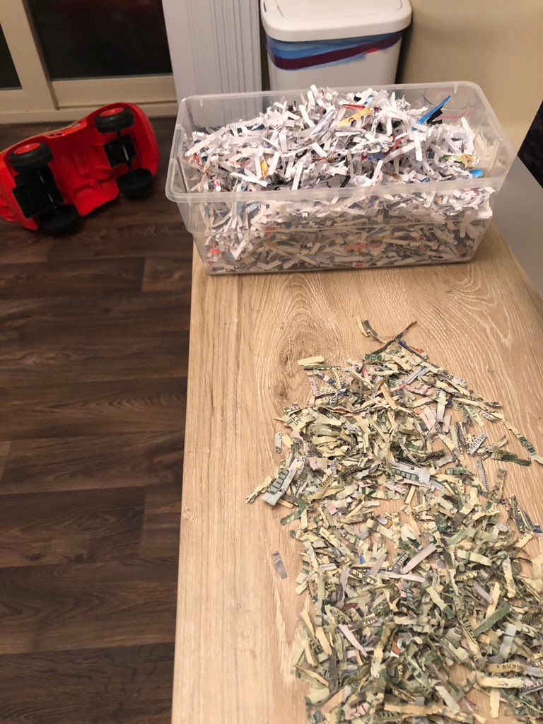 The shredded cash