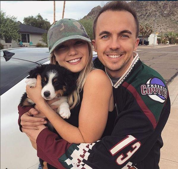 Frankie Muniz and his girlfriend Paige Price