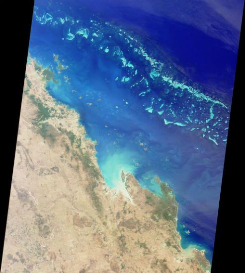 Great Barrier Reef from space