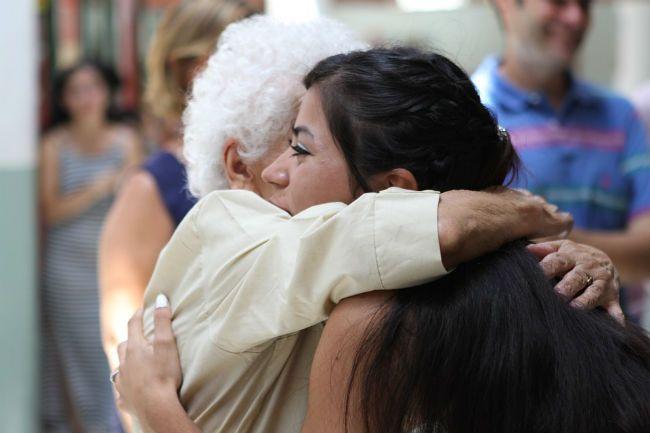 Hug Grandmother