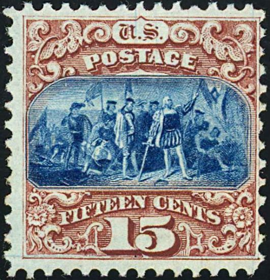 Landing of Columbus 1869 stamp