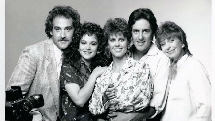 Rebecca Schaeffer with My Sister Sam cast