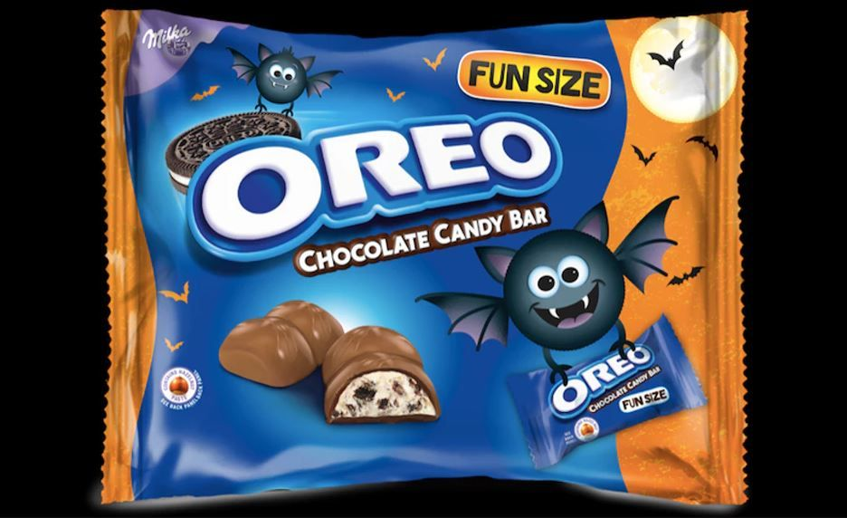 Oreo fun sized halloween candy bar