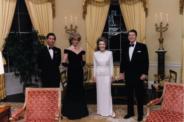 Prince Charles, Princess Charles with Ronald Reagan and his wife