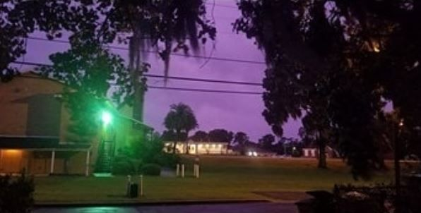 Purple Skies Hurricane Michael