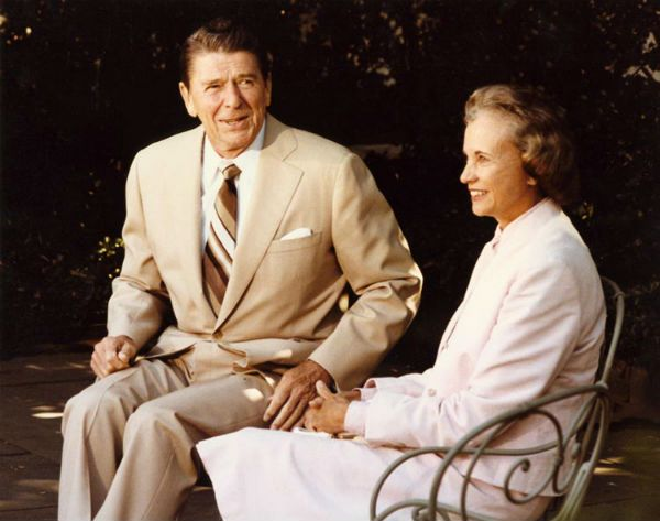 Sandra Day O'Connor and Ronald Reagan