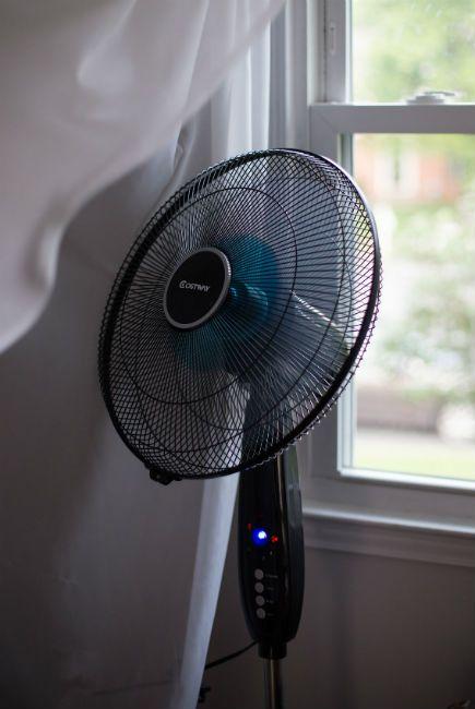 Sleeping with fan on