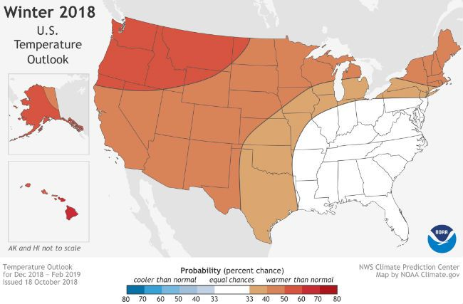 Winter forecast America 2018-19