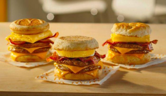Triple Stack breakfast sandwich