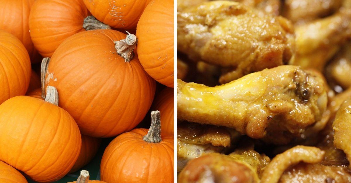 pumpkin and chicken