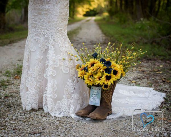 Widow Wedding Sunflowers Boots