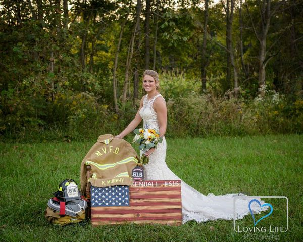 Widow Wedding Firefighter