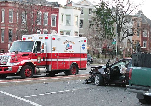 Ambulance at accident