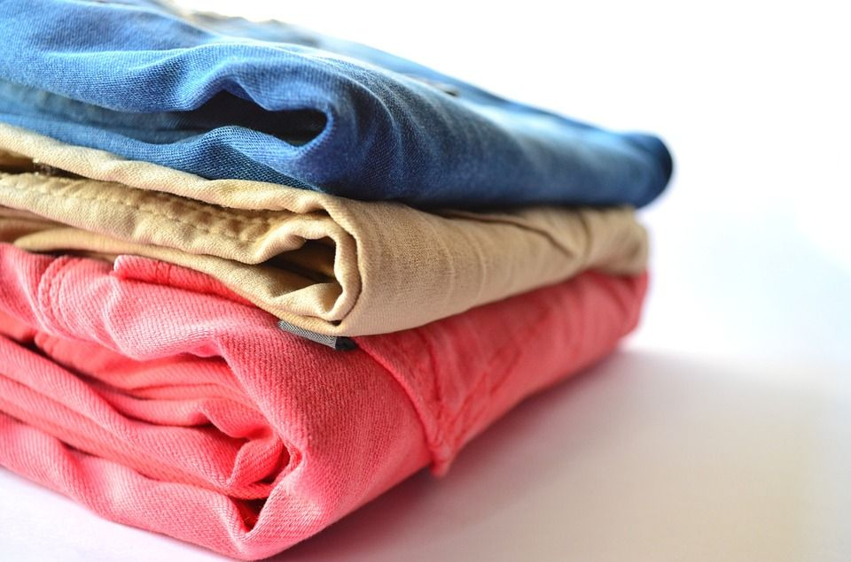 A stack of clean clothes