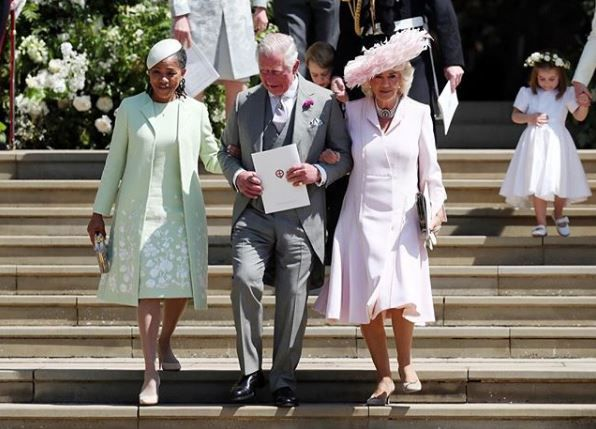 Doria, Charles and Camilla during Meghan and Harry's wedding