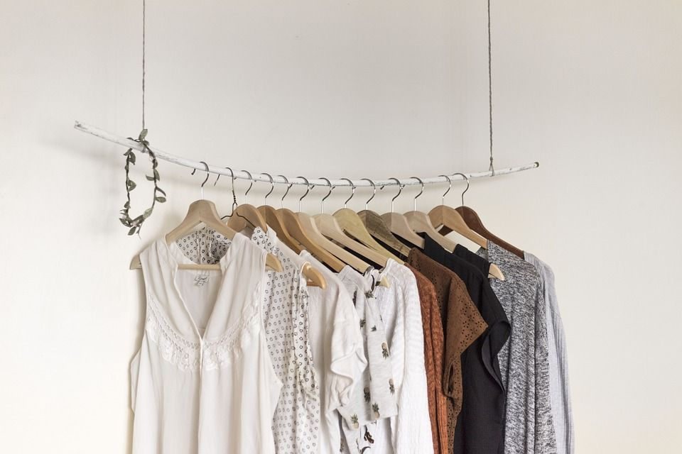 A rack of ironed clothes