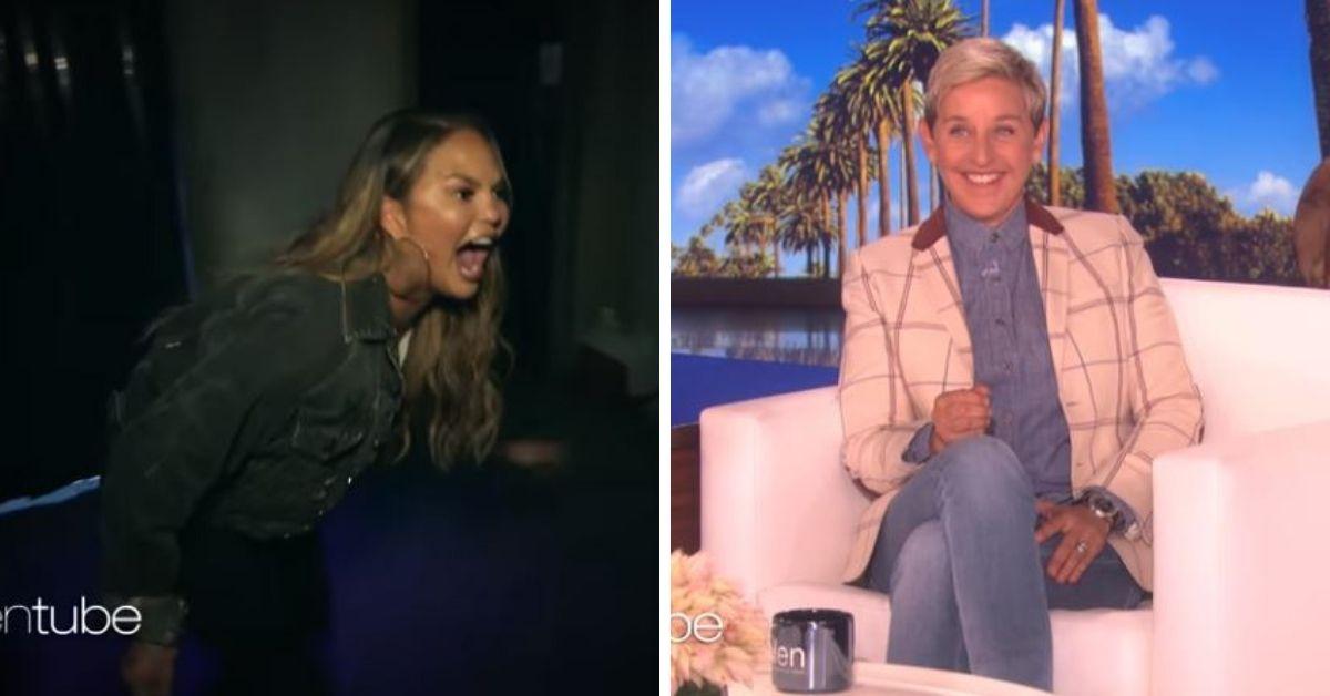 Flipboard Chrissy Teigen Went Through Ellen S Haunted House And Her