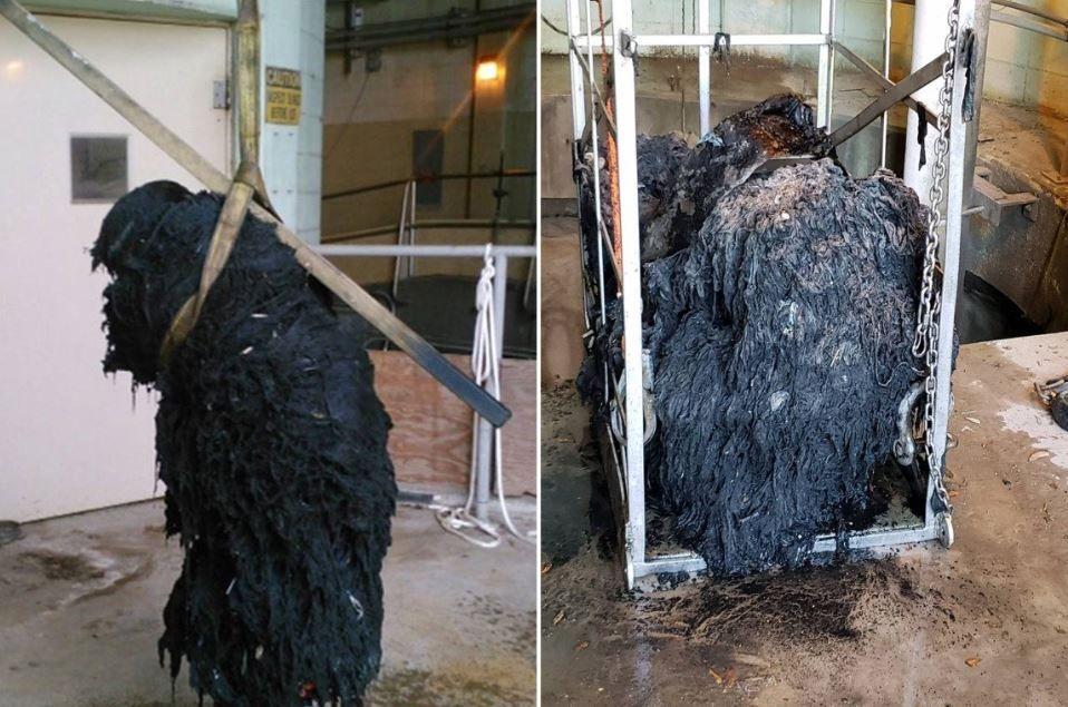 clogged sewage