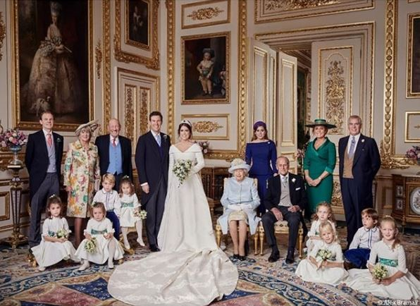 Eugenie and Jack's official wedding photo