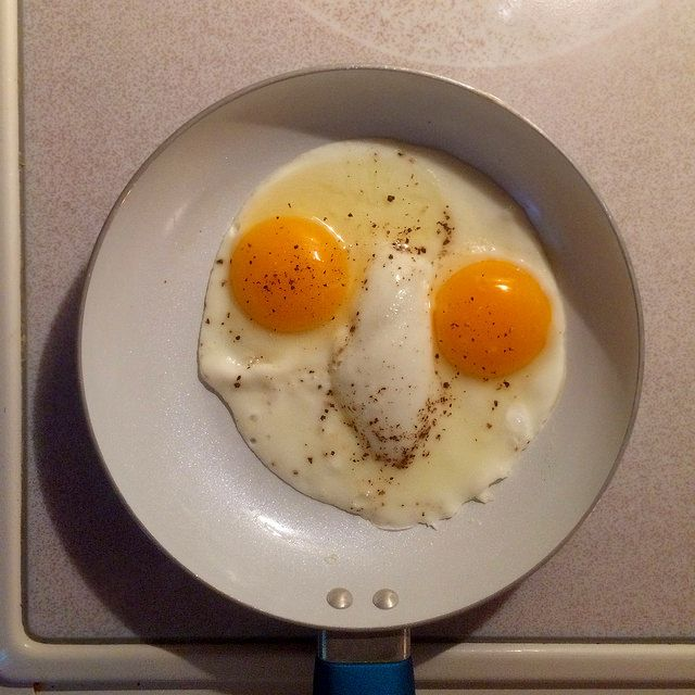 Eyes made out of eggs