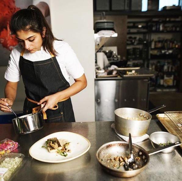 Fatima Ali cooking