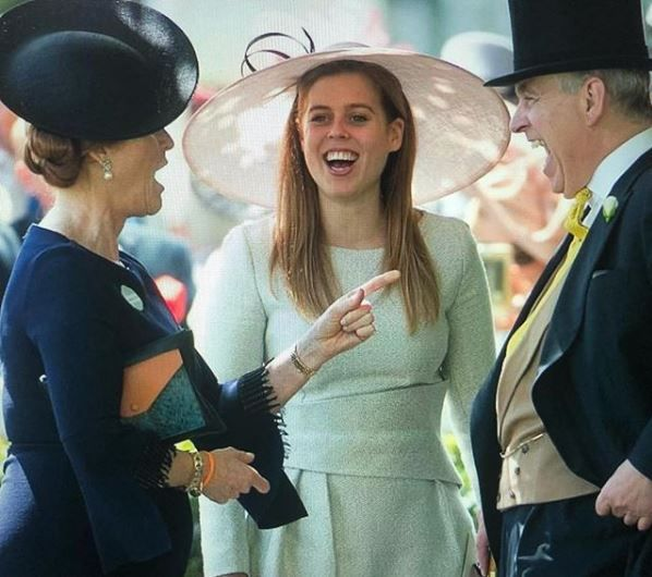 Fergie, Prince Andrew and Princess Eugenie