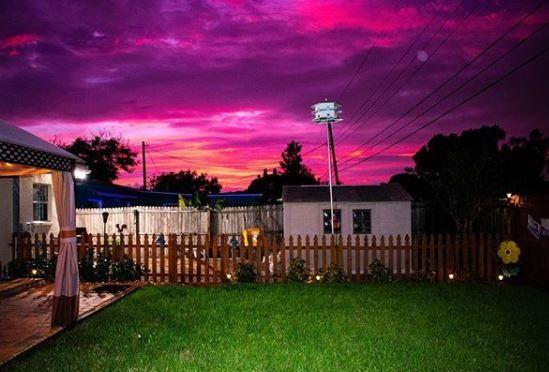 Florida sunset after hurricane