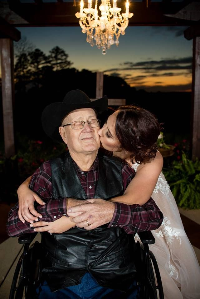 Halie Hipsher and her grandfather on her wedding day