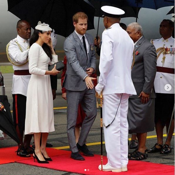 Prince Harry and Meghan Markle in Fiji