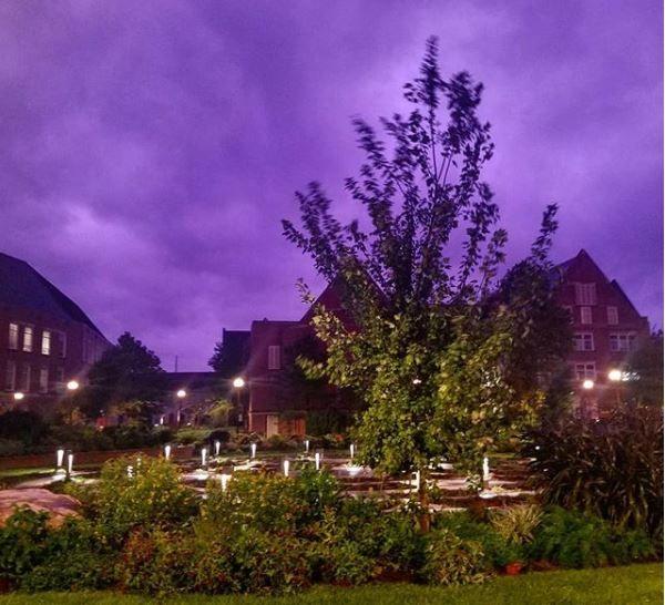 Hurricane Michael Purple Clouds
