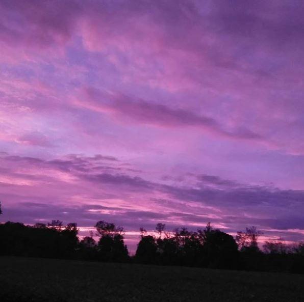 Hurricane Michael purple skies