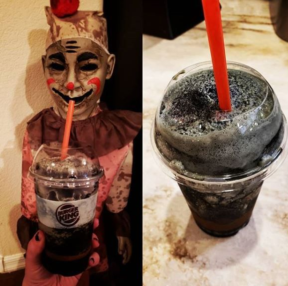 Frozen Fanta Scary Black Cherry slushie