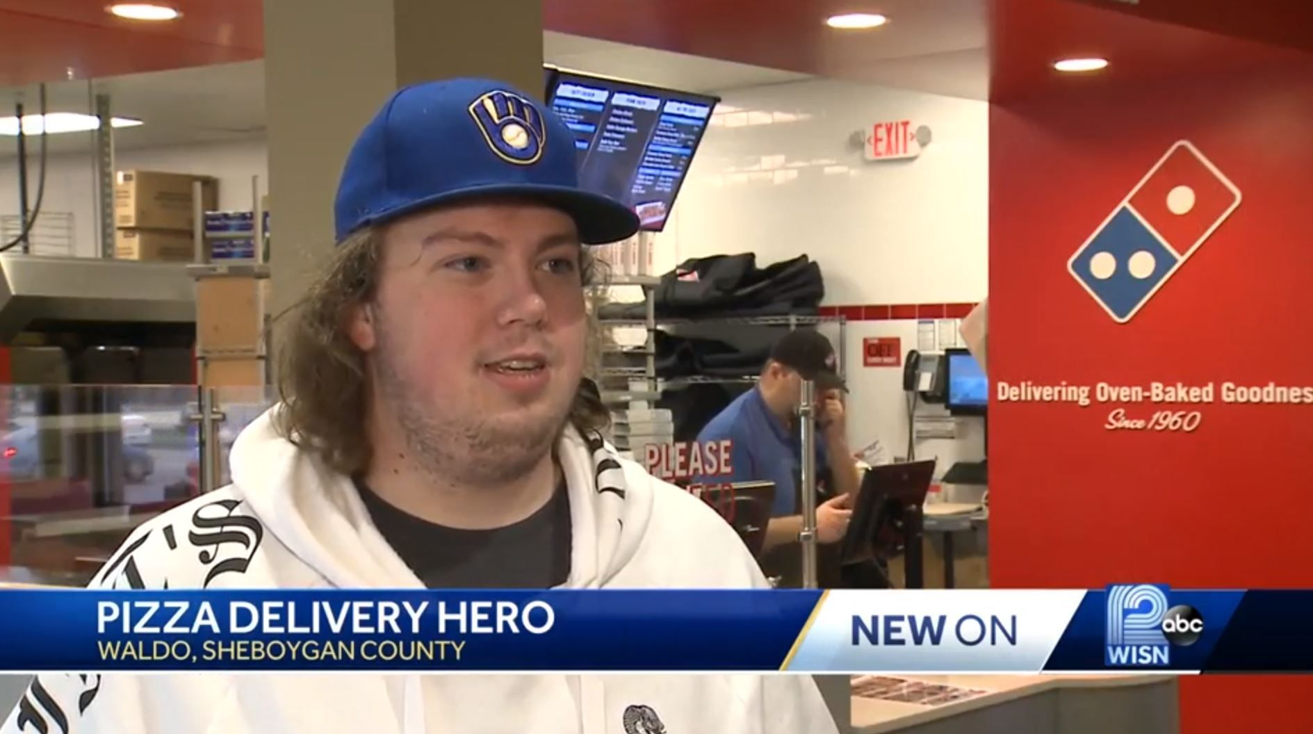 Joseph Grundl pizza delivery drive saved hostage