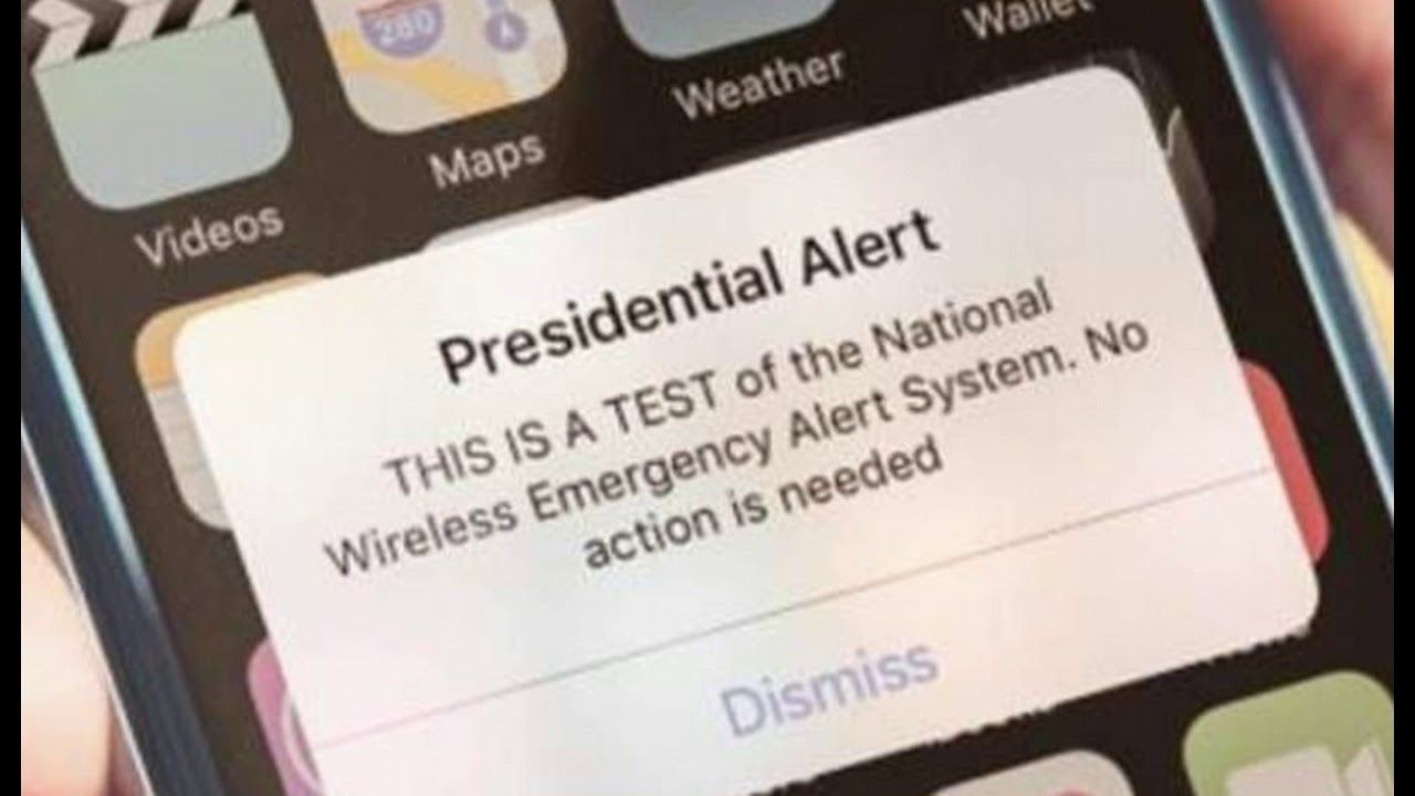 Presidential alert on a cellphone