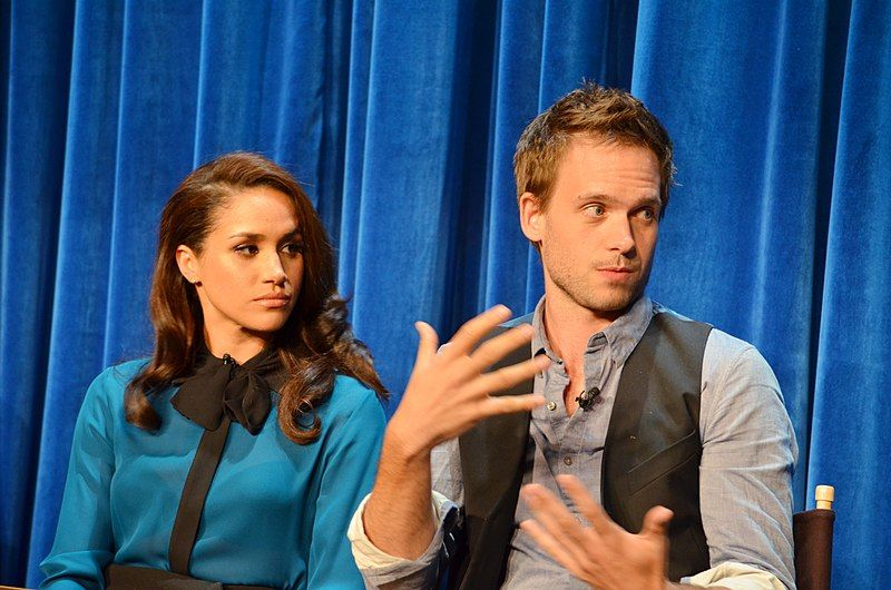 Meghan Markle and co-star Patrick J. Adams