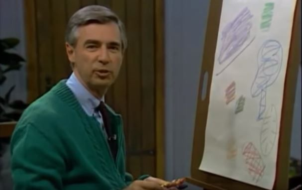 Mr. Rogers on his TV Show