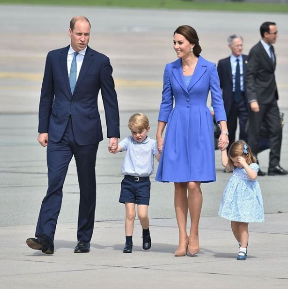 William and Kate with Prince Georges and Princess Charlotte