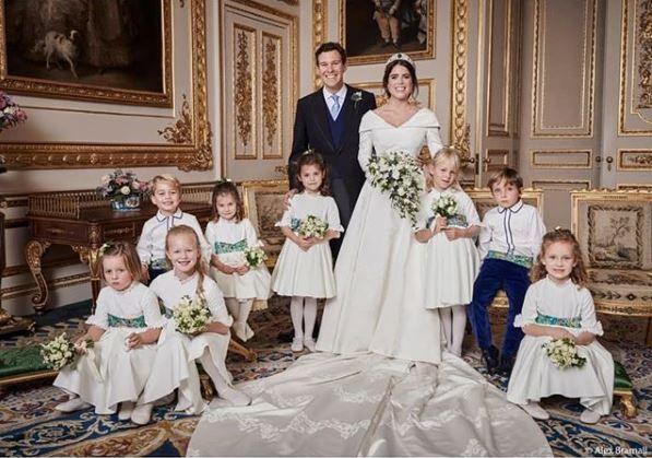 Princess Eugenie's official wedding portrait