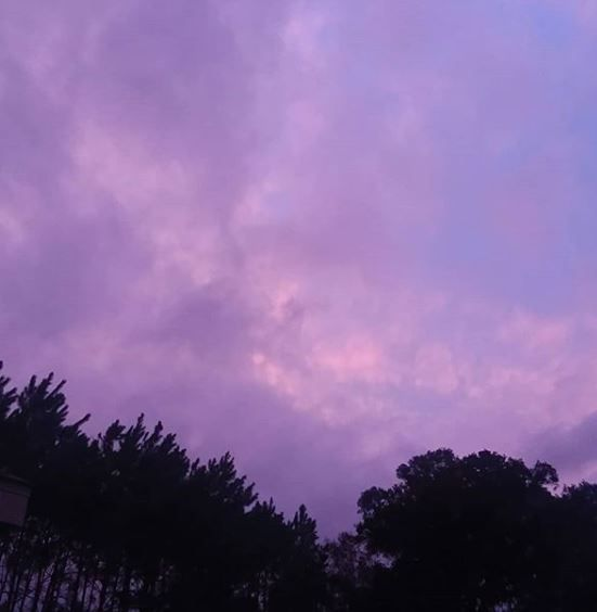 Hurricane Michael purple skies