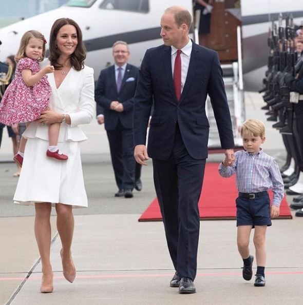 Royal family William, Kate, Charlotte, and George