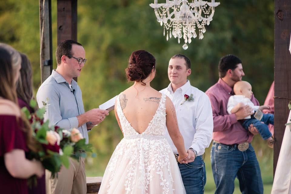 Halie and Matthew's wedding ceremony