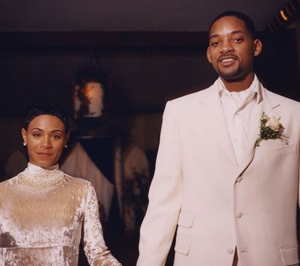 Will and Jada on their wedding day