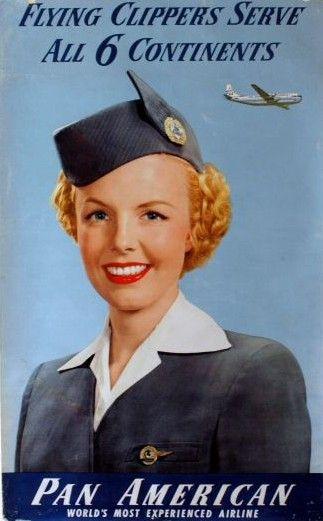 1950s panam flight attendant