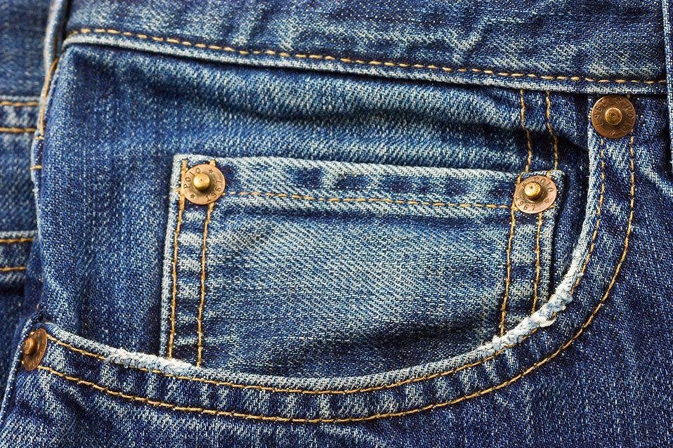 Tiny jean pocket