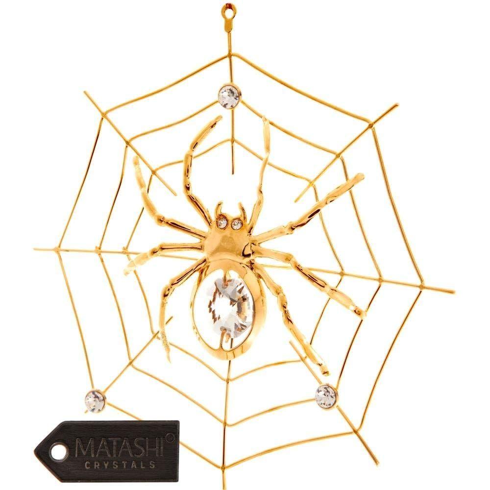 Spider ornament gold