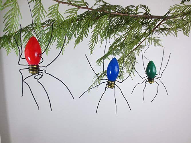 Christmas Bulb Spiders