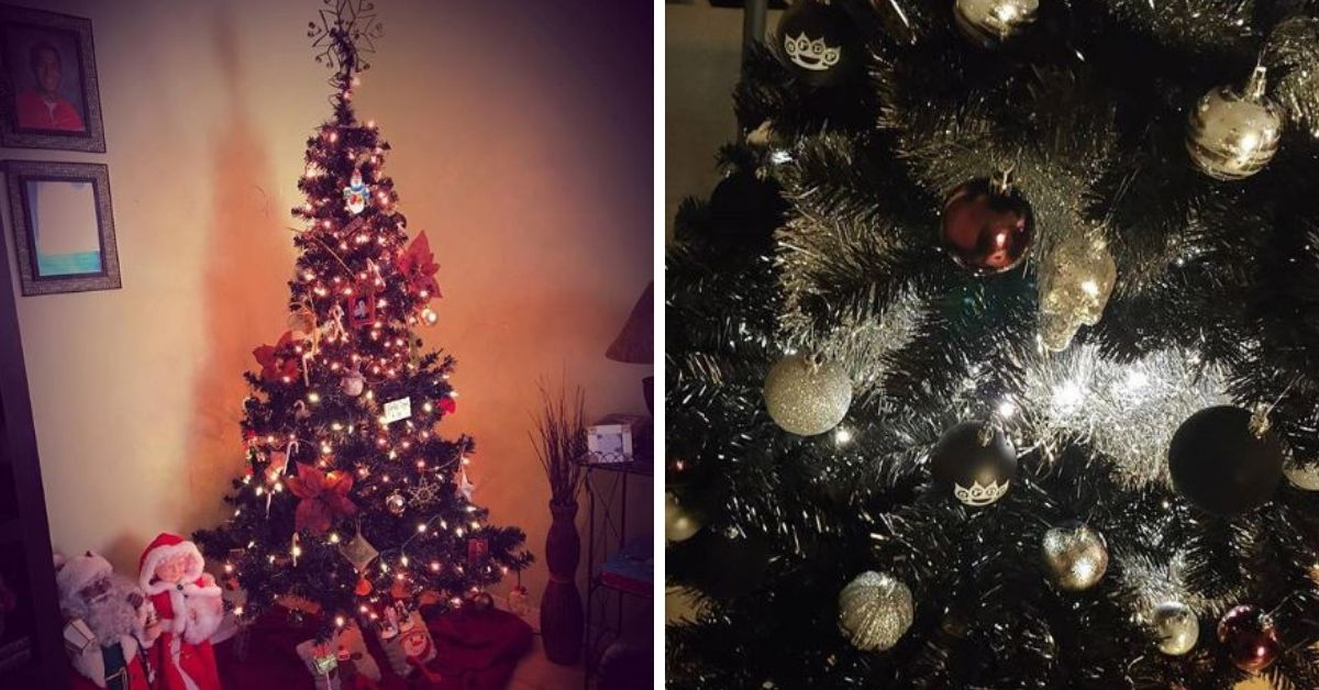 The Black Christmas Tree Trend Has Taken Over And We've Got To Admit, It's Pretty Awesome