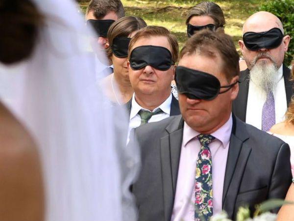 Blindfold wedding