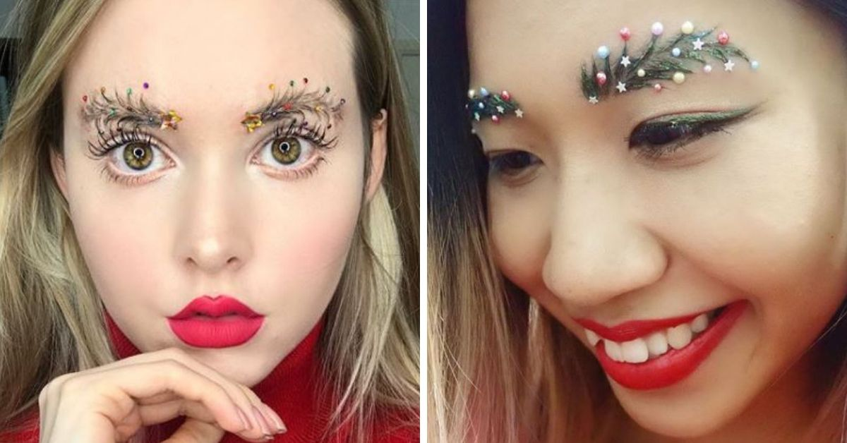 Christmas Tree Eyebrows.Christmas Eyebrows Are The Latest Trend You Ve Got To See
